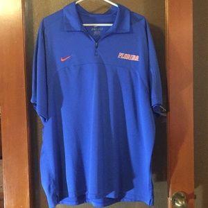 Florida Gators Nike dri fit embroidered blue shirt